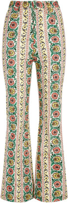 Alice + Olivia Benedict Embroidered Flare Pant