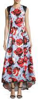 Sachin + Babi Academy Sleeveless Floral Ottoman Gown