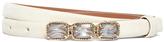 Brooks Brothers Nubuck Jeweled Plaque Belt