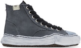 Thumbnail for your product : Miharayasuhiro Black Over-Dyed OG Sole Peterson High Sneakers