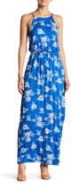 Lush Sleeveless Printed Knit Maxi Dress