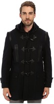 Andrew Marc Pierce Textured Wool Plaid Toggle Coat