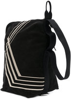 Rick Owens stripe panel shoulder bag