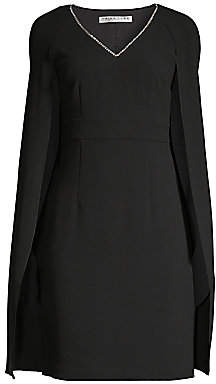 Trina Turk Women's Eastern Luxe Crepe Cape Dress