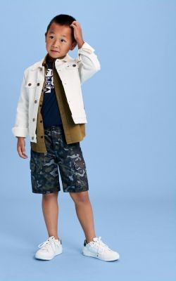 Tommy Hilfiger Camouflage Print Pure Cotton Cargo Shorts