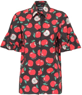 Boutique Moschino Apple Printed Short Sleeve Shirt