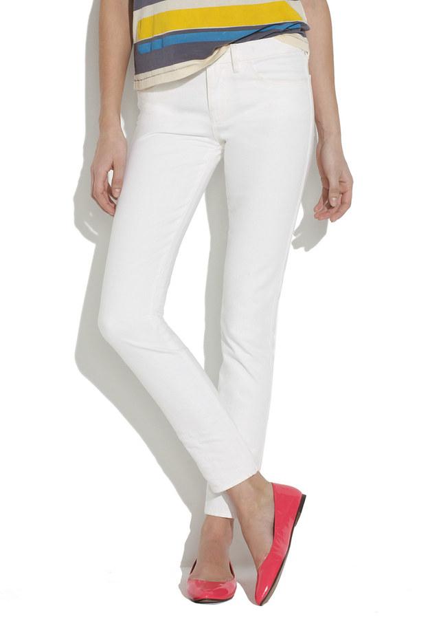 Madewell Skinny Skinny Ankle Jeans in Optic White