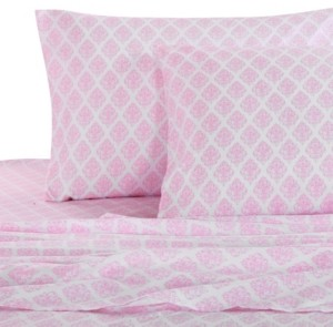 Levtex Home Pink Damask Twin Sheet Set Bedding
