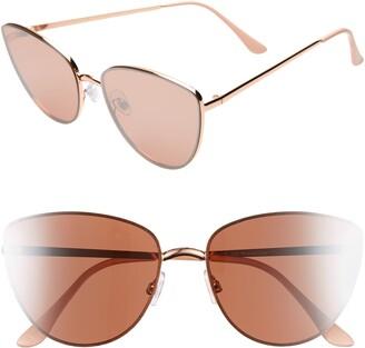 BP Rimless Cat Eye Sunglasses