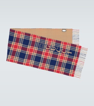 Gucci Checked printed scarf
