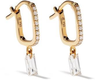 Raphaele Canot 18kt yellow gold Set Free diamond baguette earrings