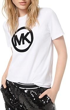 MICHAEL Michael Kors Velvet Logo Cotton Tee