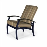 Telescope Casual Belle Isle Patio Chair with Cushions Telescope Casual Frame Color: Snow, Cushion Color: Lobsters