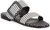 Manolo Blahnik Tituba Flat Polka-Dot Buckle Slide Sandals
