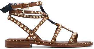 Ash wrapped studded leather sandals