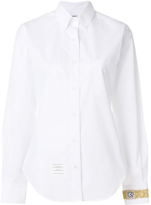 Thom Browne Watch Embellished Classic Shirt