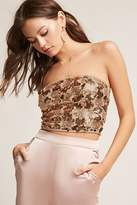 Forever 21 Sequin Cropped Tube Top