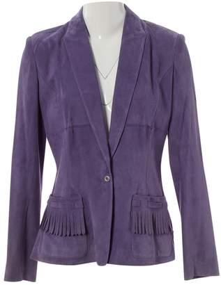 Thierry Mugler Purple Suede Jackets