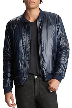 John Varvatos Collection Lightweight Slim Fit Bomber Jacket