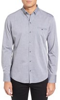 Zachary Prell Men's Yama Trim Fit Geometric Sport Shirt