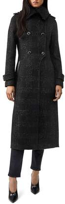 Mackage Elodie Shimmer Double-Breasted Button Front Coat