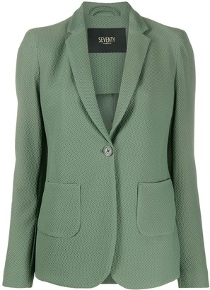 Seventy Textured Single-Breasted Blazer