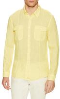 Etro Linen Button Tab Sportshirt