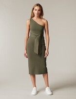 Thumbnail for your product : Ever New Lauren One-Shoulder Midi Knit Dress