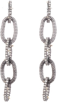 Alexis Bittar Crystal Encrusted Mesh Chain Earrings