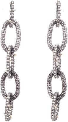 Alexis Bittar Crystal Encrusted Mesh Chain Er