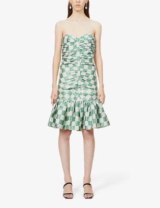 Rotate by Birger Christensen Laila checked woven mini dress