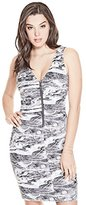 GUESS Women's Sleeveless Tetiana Zipped Dress