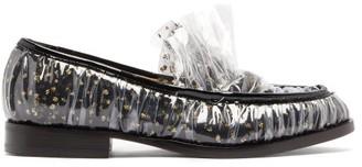 Midnight 00 Antoinette Polka-dot Tulle & Pvc Loafers - Black Gold