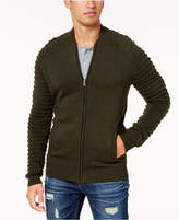 American Rag Men's Moto Bomber Sweater, Created for Macy's