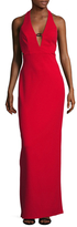 ABS by Allen Schwartz Plunging Neck Column Dress