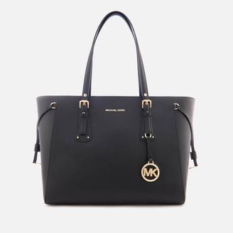 MICHAEL Michael Kors Women's Voyager Medium Top Zip Tote Bag - Black