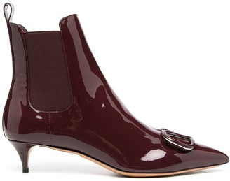 Valentino VLOGO pointed toe ankle boots