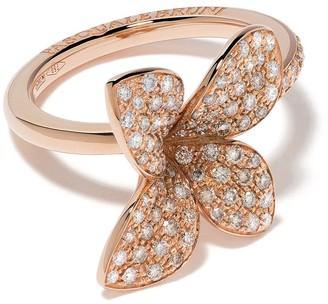 Pasquale Bruni 18kt rose gold Petit Garden diamond ring