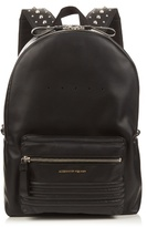 Alexander Mcqueen Studded-straps Leather Backpack