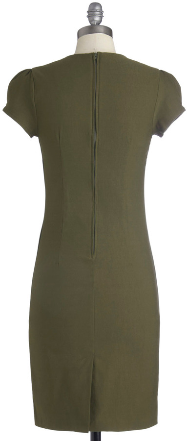 Sleek It Out Dress in Olive