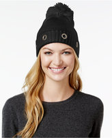 Steve Madden Solid Grommet Cuff Hat