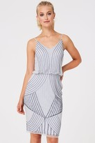Thumbnail for your product : Little Mistress Alexis Grey Hand Embellished Midi Dress