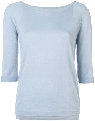 Sottomettimi 3/4 Sleeves Round-Neck Pullover