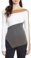 Diane von Furstenberg Women's Colorblock Asymmetrical Top