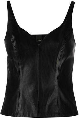 Pinko Faux Leather Sweetheart Vest