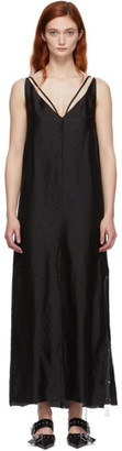 Yang Li Black Silk Maxi Slip Dress