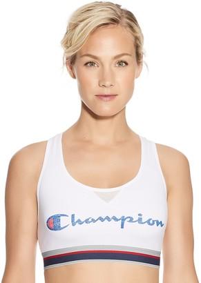 Champion Bras: Authentic Graphic Racerback Medium-Impact Sports Bra B1429G549686