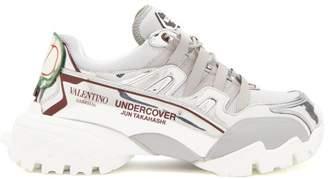 Valentino X Undercover Metallic Trainers - Mens - Silver
