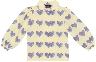 The Animals Observatory Gadfly printed crepe shirt