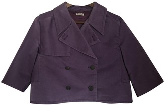 Miu Miu Purple Cotton Jacket for Women Vintage